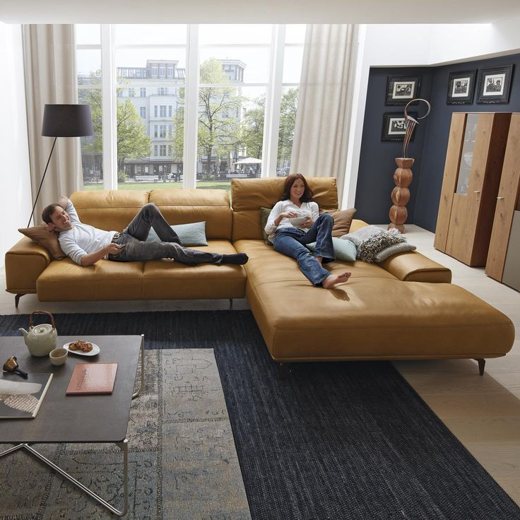 Musterring leder wohnlandschaft mr 2490 in braun living for Urban sofa deutschland