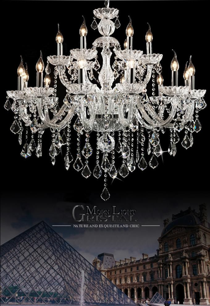 Affordable Crystal Chandelier Lighting Transparent Color Wh Cy 08
