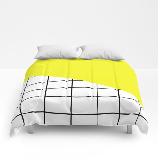 Grid and Sunshine Comforters