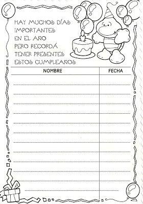 Menta Más Chocolate - RECURSOS y ACTIVIDADES PARA EDUCACIÓN INFANTIL: Carteles para Registrar los Cumpleaños