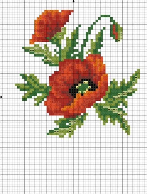 Point, Вышивка Цветы, 562 740