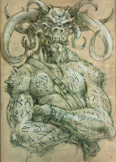 sigil demon evil demons drawings by the gurch favorite monsters pinterest demon. Black Bedroom Furniture Sets. Home Design Ideas
