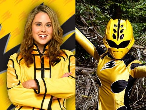Power Rangers Jungle Fury Yellow Rangers spirit animal, the cheetah; Elephant and the Penguin