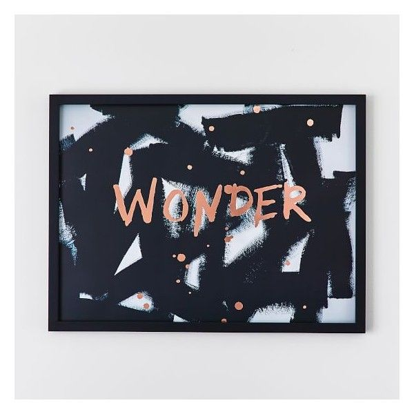 PB Teen Isabella Rose Taylor Wonder Framed Art ($59) ❤ liked on Polyvore featuring home, home decor, wall art, framed wall art and pbteen