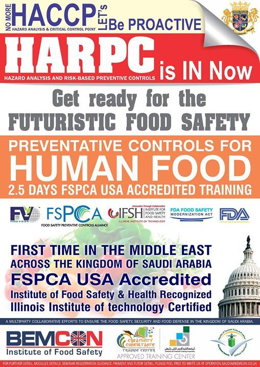 Food Safety Modernization Act USA has changed the Food Safety approach and will be practiced soon all over the world.  Hazard Analyses and Critical Control Point (HACCP) is now Hazard Analyses and Risk based Preventive Control (HARPC)  Every Food Safety Management System either ISO 22000 FSSC 22000 BRC Food Safety IFS or any other GFSI Recognized Food Safety System Certification Scheme required to do the Risk Assessment based on Codex 12 Steps.  Now the 12 Steps approach has been changed…