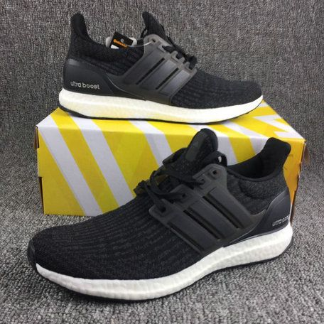 Chaussures pas cher course new adidas Ultra Boost 3 Triple Core Black