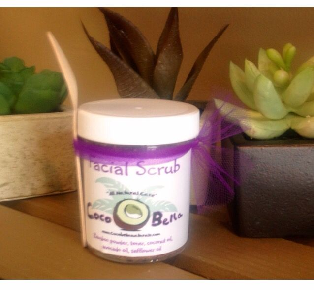 All Natural, Handmade, Vegan Facial Scrub! This scrub will not only gently exfoliate but it effectively moisturizes all in one step. Enjoy the anti-acne, anti-wrinkle benefits of the bamboo powder & coconut oil which are found in this unique scrub. A must have for every skin type! 4oz $10.00