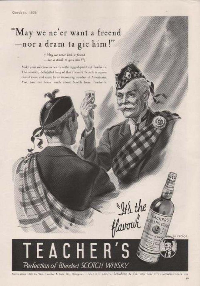 Teachers Blended Scotch Whiskey (1939)