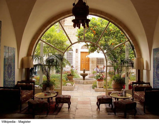 The American Colony Hotel in Jerusalem, Israel is a stunning boutique hotel with in walking distance of many of the major sites within the Old City of Jerusalem.
