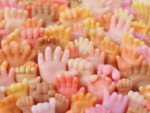 Expertly handcrafted by Marie and David, these hand-shaped soaps are fun and functional sculptures, perfect for display or to use. Give them to anyone who needs a hand or use them to encourage childre