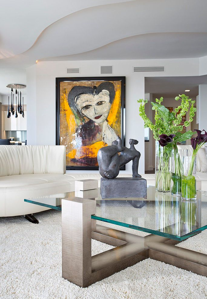 The Fava Design Group Put Together This Modern Living Space With Stunning Whimsical Art Work