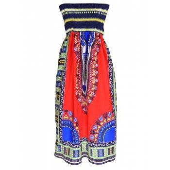 SHARE & Get it FREE | Strapless Tribal Print Midi DressFor Fashion Lovers only:80,000+ Items·FREE SHIPPING Join Dresslily: Get YOUR $50 NOW!