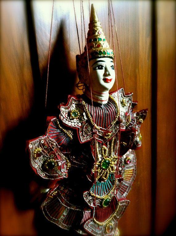 Vintage Handcarved Burmese Marionette  Puppet by GypceeTrunkShow, $100.00