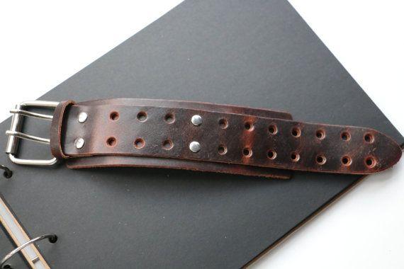 Herren-Armband Breite Armband Armband Leder von WarmHeartHouse