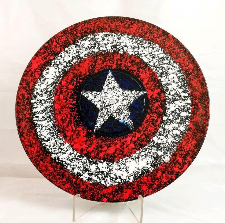 Captain America Splatter painting on Vinyl