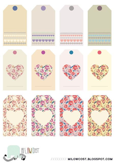 Free shabby chic printable labels :-)