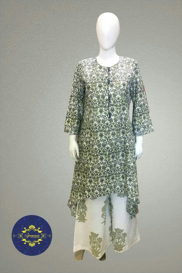 Pure Cotton I Asymmetrical I Dress I Fusion wear I Indo western I Embellishments I Block Print I Indian Artisans I Hand work I Fashionista I Indian Designer I Designer wear I Boutique Style I suumayabyamhm I @FB.com/suumaya + +918527494117