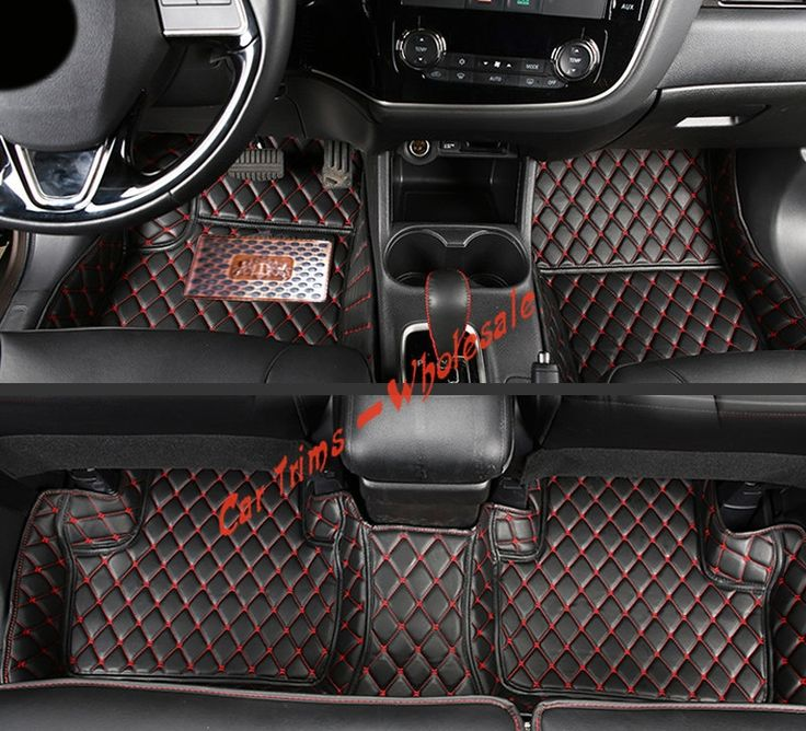 72.00$  Watch now - http://alia1v.worldwells.pw/go.php?t=32773552515 - 10-12  Black  Leather  Interior  Car Pad Car  Floor Mats  for  Mitsubishi  Outlander 2010 2011 2012