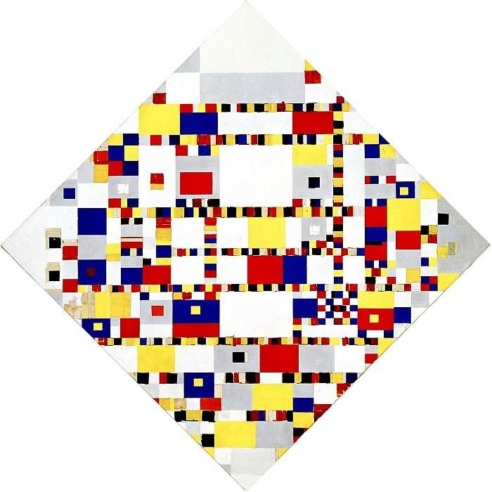 Piet Mondriaan - Victorie Boogie Woogie as shown (the original) at gemeentemuseum Den Haag.   But it's in real size also in my office! :-)