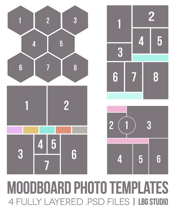 Moodboard Photo Templates by LBGstudio on Etsy, $14.00