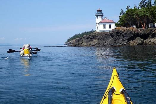 Lime Kiln State Park - kayaking! It is that time of year! Whales starting to come by with more frequency.