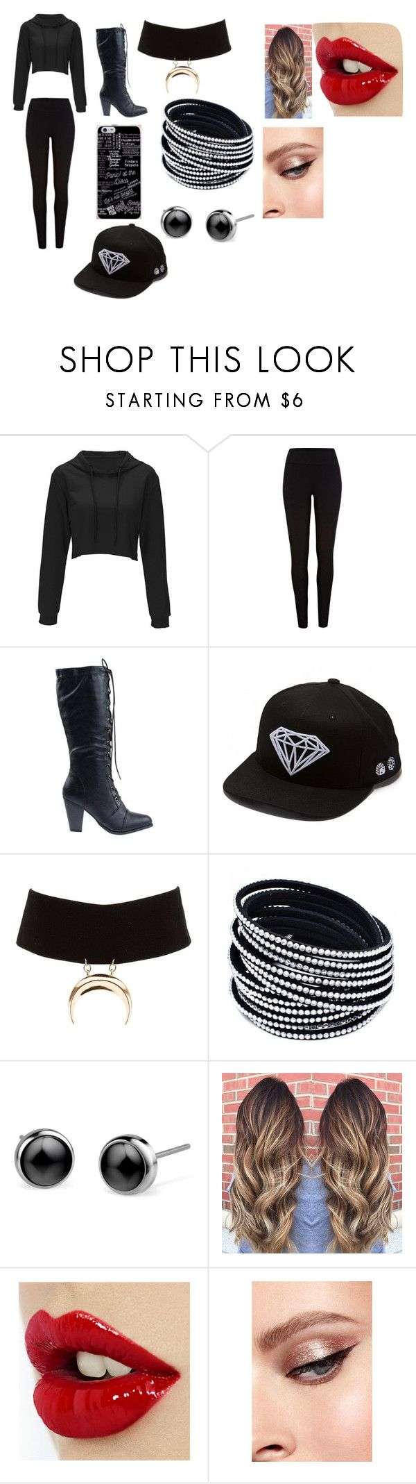 """Glmor"" by ealtscheffel ❤ liked on Polyvore featuring River Island, Forever Link, Diamond Supply Co. and Charlotte Russe"