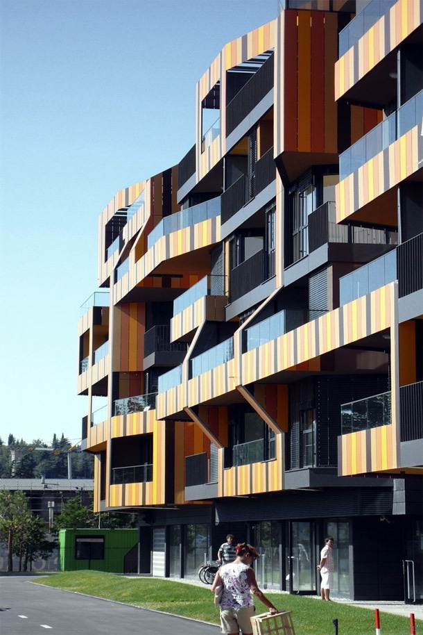 This is an affordable social housing with modern architecture the building is located in - Affordable social housing ...