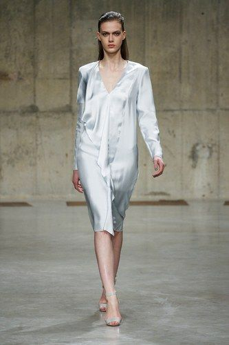 Richard Nicoll Autumn/Winter 2013  The light, silk material used in some of Nicoll's garments definitely resemble night wear.