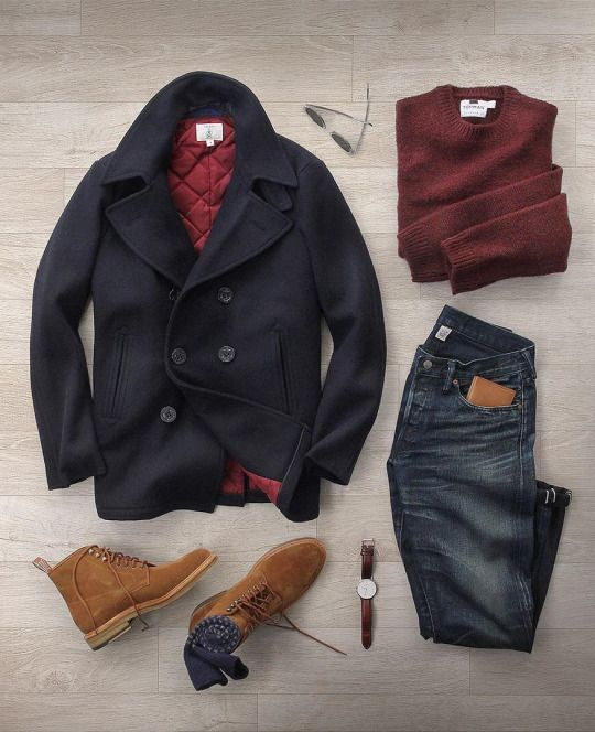 Outfit grid - Pea coat