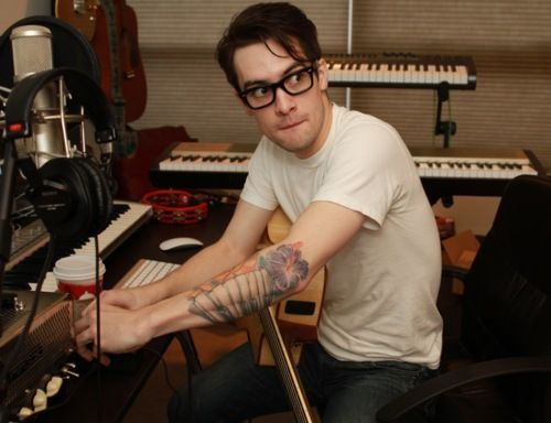 Brendon Urie <3 <3 (my soon to be 3rd husband <3 <3 ) I love his tattoo