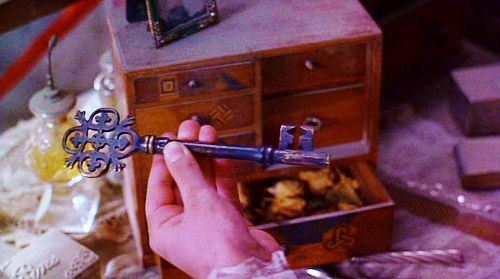 The Secret Garden (1993) I always loved the part where Mary finds the door hidden behind her bedroom tapestry, and goes exploring. Then she finds the key...
