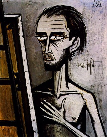 Bernard Buffet - Self-Portrait 1981 (Larry Poons once described him as the worst painter of all time!)