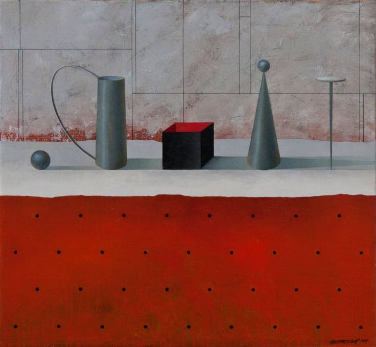 "Saatchi Art Artist Alex Berdysheff; Painting, ""Still Life With a Black Box"" #art"