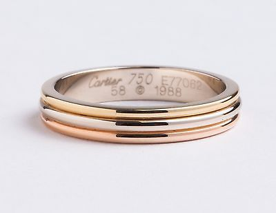 Cartier Three Gold Wedding Band B4052200
