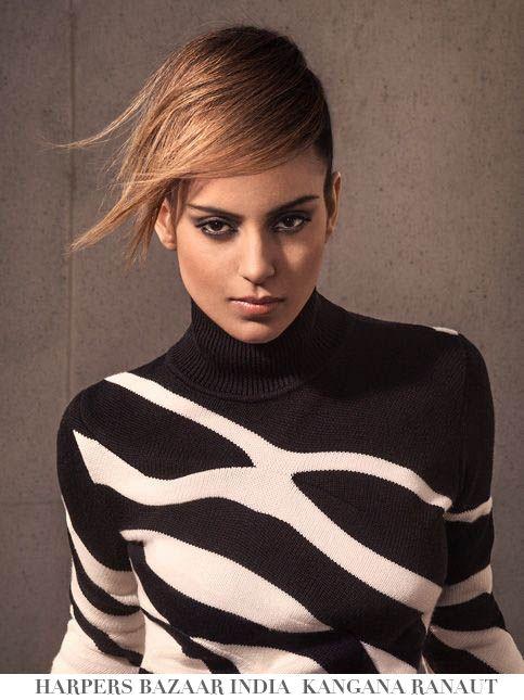 Kangana Ranaut For Harpers Bazaar India Hairstyles By Nicolas