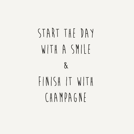 Smiles and champagne.