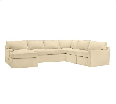 pottery barn slipcovered sectional sofa my style pinterest