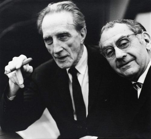 Marcel Duchamp and Man Ray, ca 1950 -by Naomi Savage