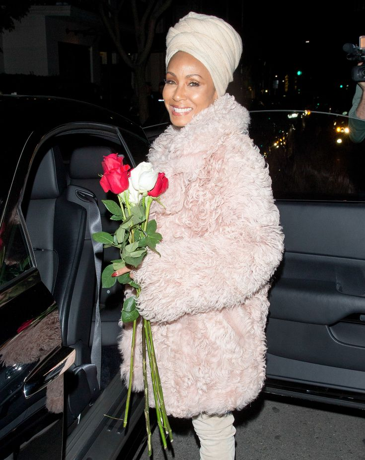 Jada Pinkett Smith after dinner with Duane Martin