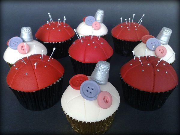 Darling Sewing Themed Cupcakes