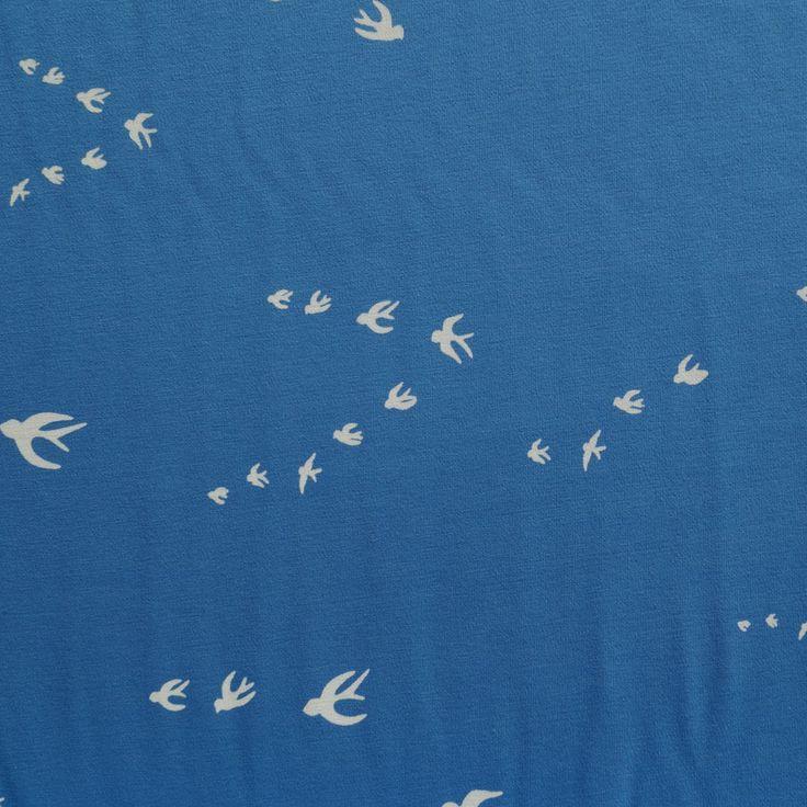 swafing kenny blauw wit tricot interlock