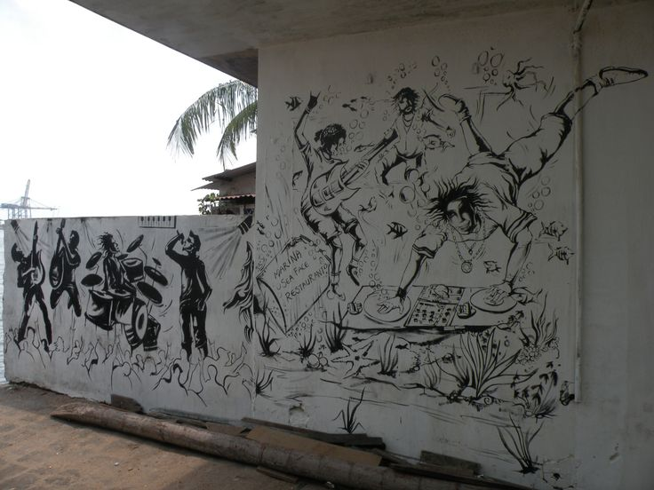 Black and White Painting, Fort Kochi. India, May 2013.