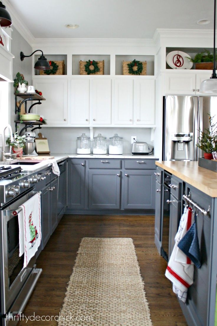 Kitchen cabinets vaulted ceiling - Christmas Home Tour Cabinets To Ceilingkitchen