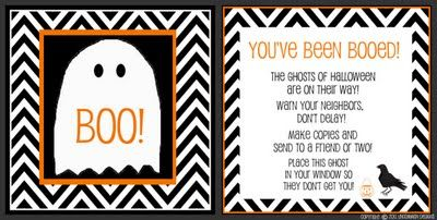"""Boo"" friends and neighbors with spooktacular surprise treats and this free downloadable tag"