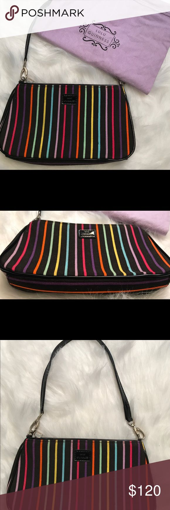 Lulu Guinness Multicolor Striped Shoulder Bag Collectible Lulu Guinness New w dustbag Retails 350 Lulu Guinness Bags Shoulder Bags