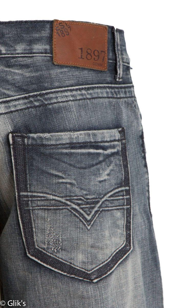 1897 Mens Bootcut Jeans – Grey Silicon Wash GLT8792