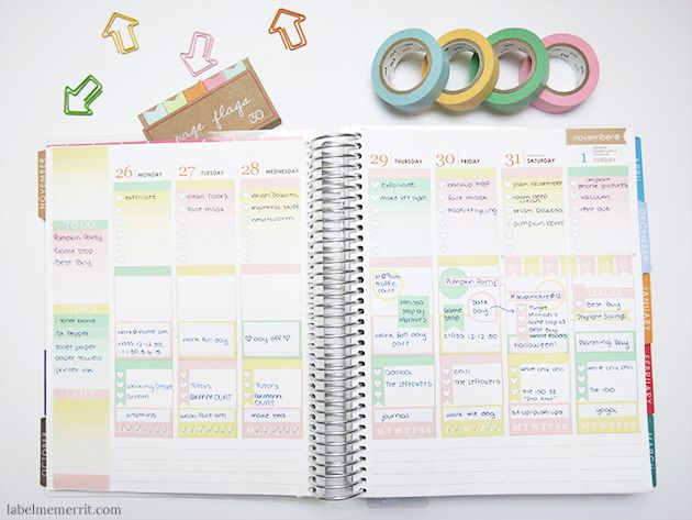 Life Planner Weekly Layouts Review by Label Me Merrit