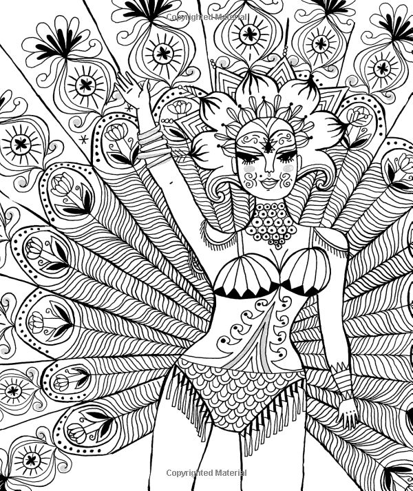 Just Add Color: Carnival: 30 Original Illustrations To Color, Customize, and Hang: Sarah Walsh: 9781592539505: Amazon.com: Books