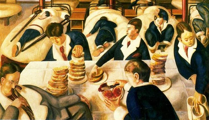 Tea in the Hospital Ward - Stanley Spencer
