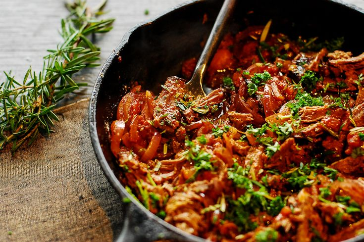 Pulled Beef With Red Onion And Tomato - Foreverfit.tv-4